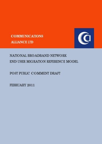 communications alliance ltd national broadband network end user ...