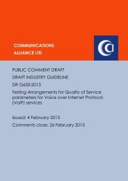 DR G635:2013 - Communications Alliance