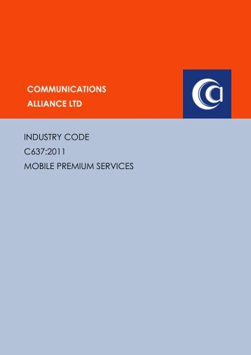 Mobile Premium Services - Communications Alliance