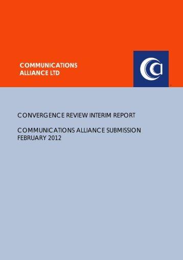 communications alliance ltd convergence review interim report ...