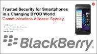 Blackberry CommsAlliance Cyber Security Presentation 30May13