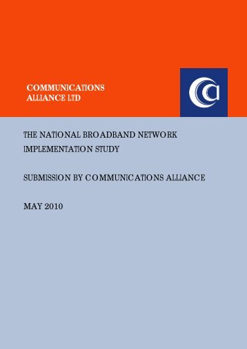 May-10 DBCDE NBN Implementation Study - Communications ...