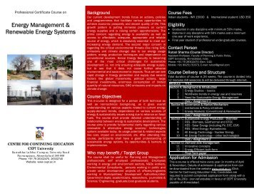 Energy Management & Renewable Energy Systems