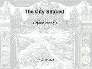 the city shaped- spiro kostof