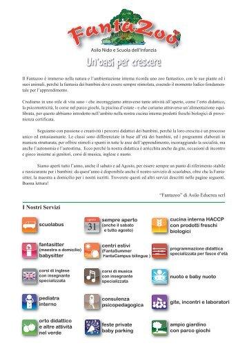 presentazione fantazoo - CRAL Enea Frascati - Enea