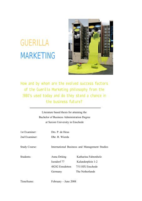 articles on guerrilla marketing