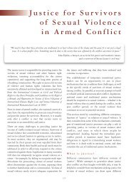 Justice for Survivors of Sexual Violence in Armed Conflict - DCAF