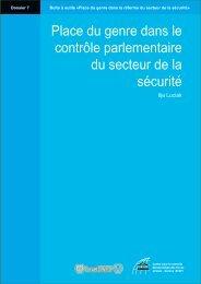 Place du genre dans le contrôle parlementaire du secteur ... - DCAF