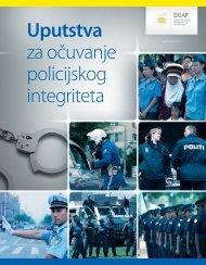 Uputstva za očuvanje policijskog integriteta - DCAF