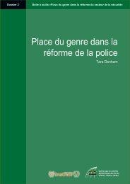 Place du genre dans la réforme de la police - Dossier 2 - DCAF