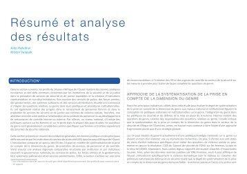 Résumé et analyse des résultats - DCAF