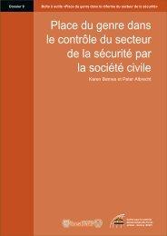 Place du genre dans le contrôle du secteur de la sécurité ... - DCAF