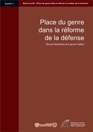 Place du genre dans la réforme de la défense - Dossier 3 - DCAF