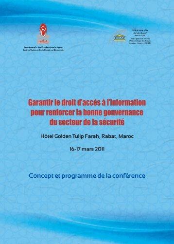 Garantir le droit d'accès à l'information pour renforcer la ... - DCAF
