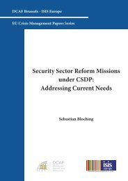 Security Sector Reform Missions under CSDP: Addressing ... - DCAF