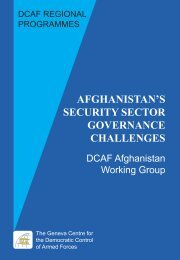 Afghanistan's Security Sector Governance Challenges - DCAF