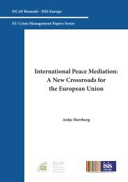International Peace Mediation: A New Crossroads for the ... - DCAF