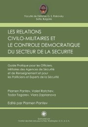 les relations civilo-militaires et le controle democratique du ... - DCAF