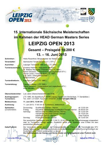 LEIPZIG OPEN 2013 - HEAD German Masters Series - TVPro-online