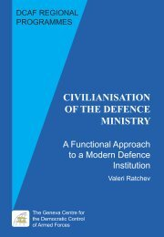 Civilianisation of the Defence Ministry: A Functional ... - DCAF