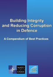 Building Integrity and Reducing Corruption in Defence - Nato