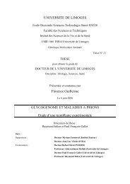 Glycogénome et maladies à prions - Epublications - Université de ...
