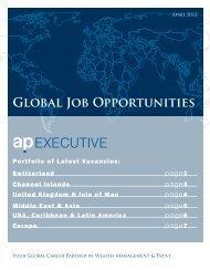Global Job Opportunities - AP Executive