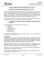 Manual de Formas de Organización de la Clase