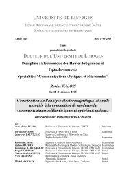 Contribution de l'analyse électromagnétique et outils associés à la ...