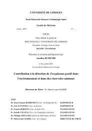 Contribution à la détection de Toxoplasma gondii dans l ...
