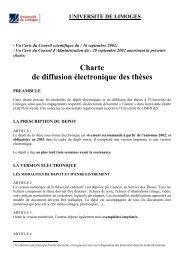 Charte de diffusion électronique des thèses - Epublications ...