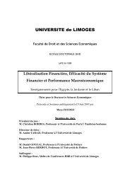 Libéralisation financière, efficacité du système financier et ...