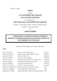 Contribution à la conception optimale en terme de linéarité et ...