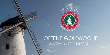 OFFENE GOLFWOCHE - Golfclub Elfrather Mühle