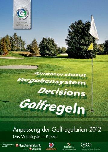 Anpassung der Golfregularien 2012