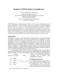 Design of a POLIS multi-wavelength laser