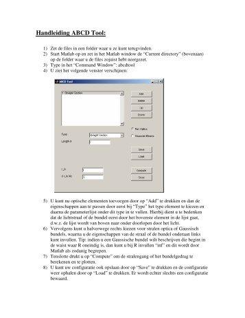 Handleiding ABCD Tool: - OED