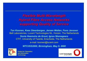 Flexible Multi-Wavelength Hybrid Fibre Access Networks supporting ...