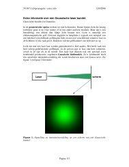 Extra informatie over een Gaussische laser bundel. - OED