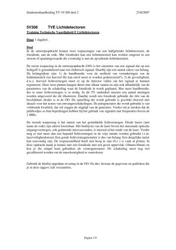 5V308 TVE Lichtdetectoren - OED