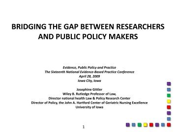bridging the gap between researchers and public policy makers