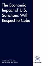 The Economic Impact of U.S. Sanctions with Respect to Cuba