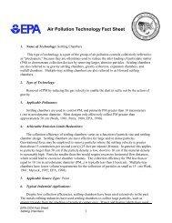 Air Pollution Technology Fact Sheet