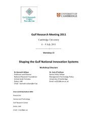 Shaping the Gulf National Innovation Systems