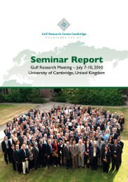 The 2010 Gulf Research Meeting - Gulf Africa Investment Conference