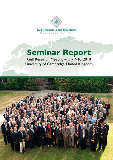 GRM 2010 Report - Centre of Islamic Studies - University of ...