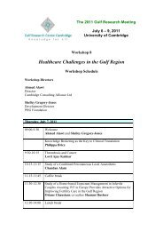Healthcare Challenges in the Gulf Region