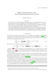 Efficient implementation of the Hardy-Ramanujan ... - William Stein