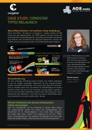 Case study: Congstar tyPo3 relaunCh