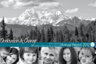 2012 Annual Report - Alaska Department of Health and Social ...
